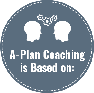 A-Plan Coaching is Based on: - Weekly face-to-face video sessions (30 or 50 minute options)An app for clients to keep goals and intentions organized and front of mindOngoing communication between coach and client through the app, texts and/or emailsTracking KPIs through the app and other feedback mechanismsA three-step process of:1. Identifying goals and areas of potential growth - both short and long term in all areas of life and work2. Developing MAPs – Multiple Action Plans – to reach those goals and develop new habits which support growth3. Ongoing coach and client partnership in the pursuit of new goals and habits that support long term personal andprofessional learning and development