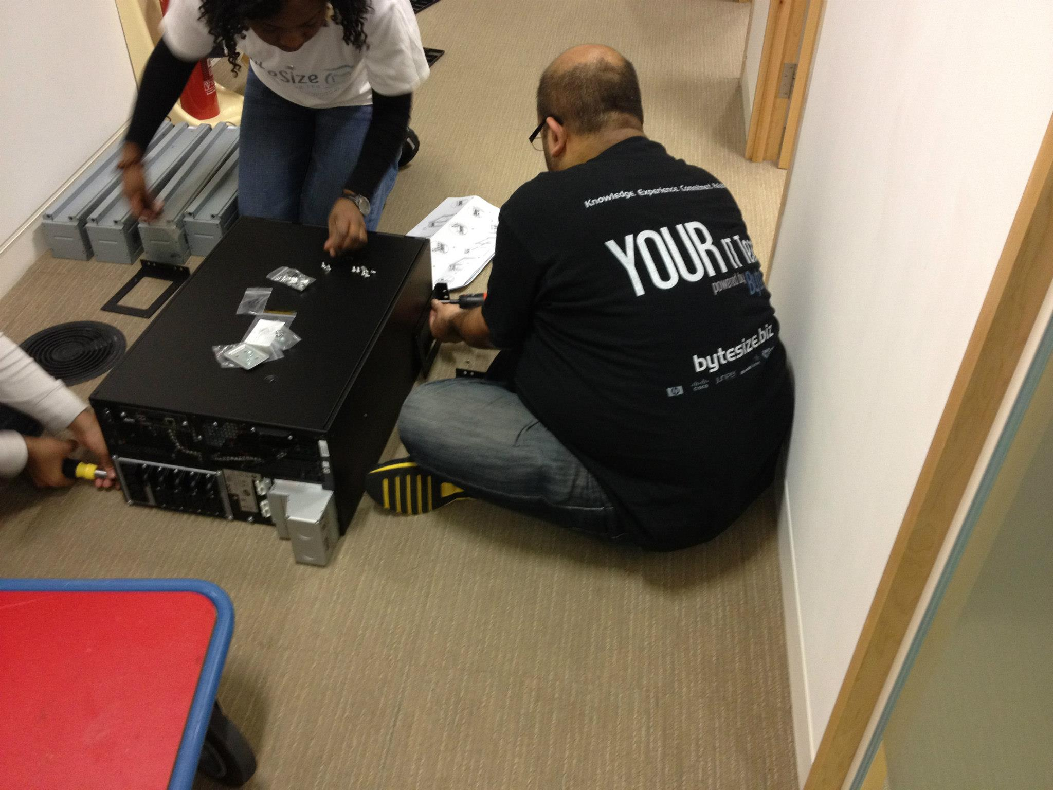ByteSize team installing 2 x 8KVA UPS