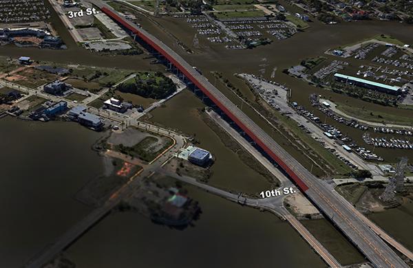 Northbound Lane Closed on Bridge
