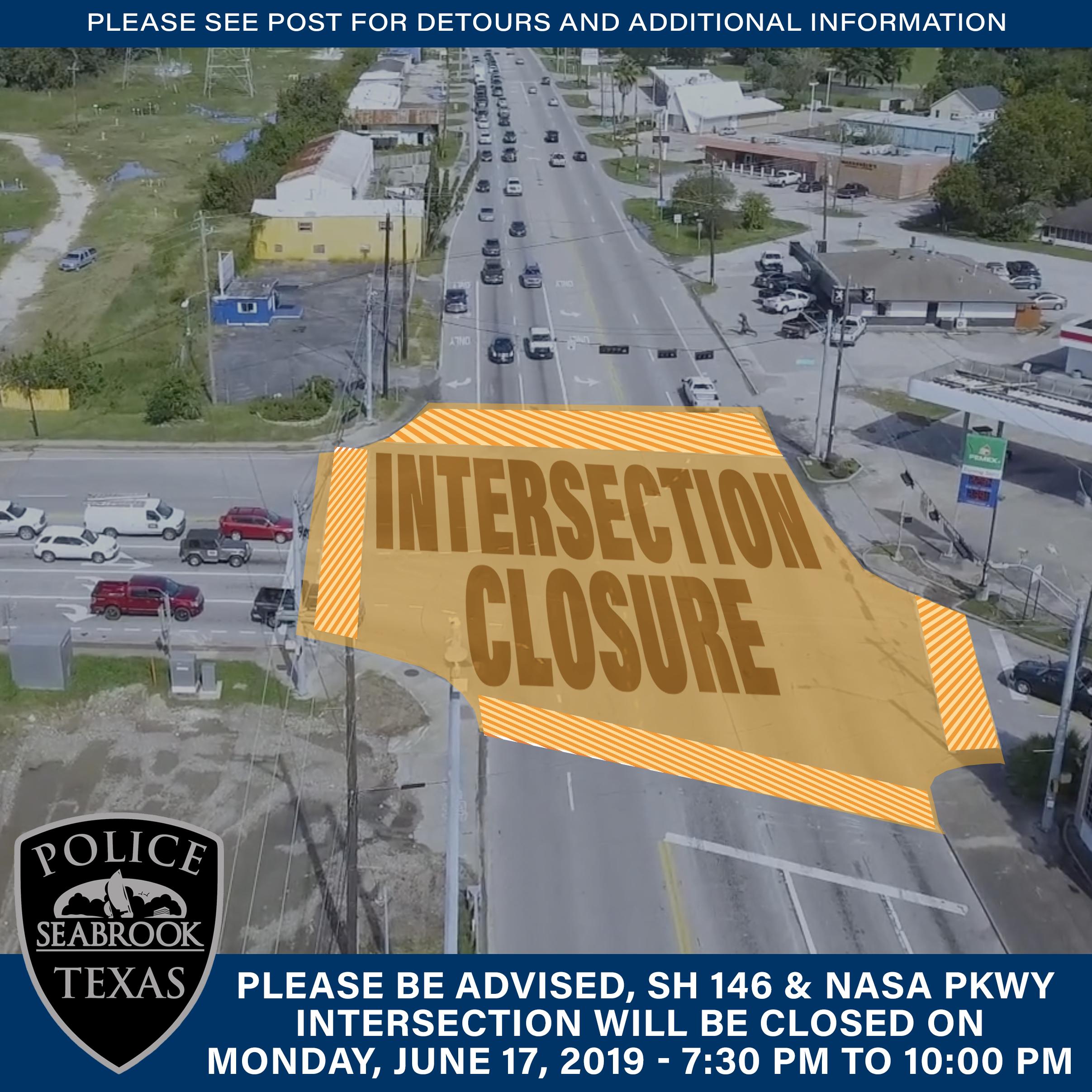 SH146-NASA Intersection Closed