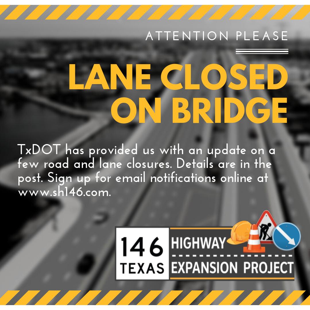 Lane Closure on Bridge