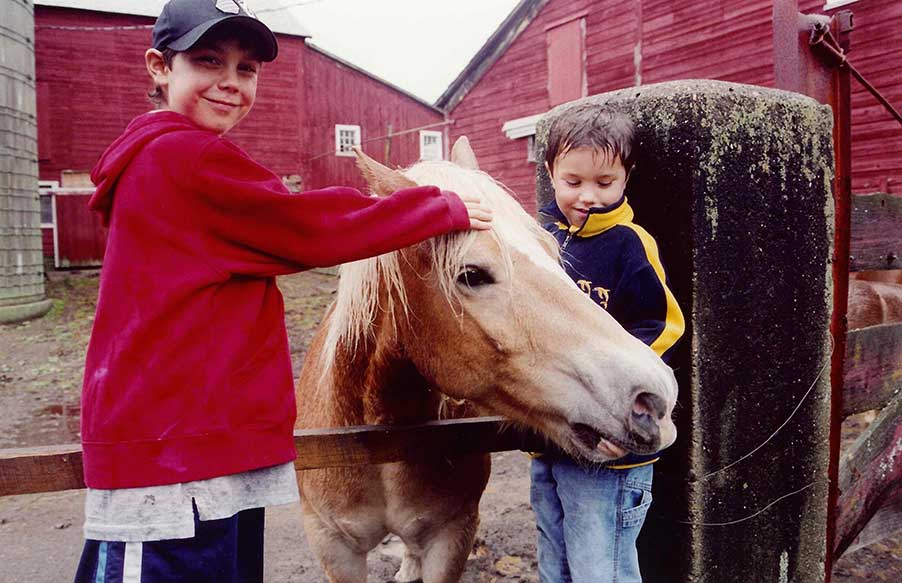 Luke and Marcus with Horse 2015