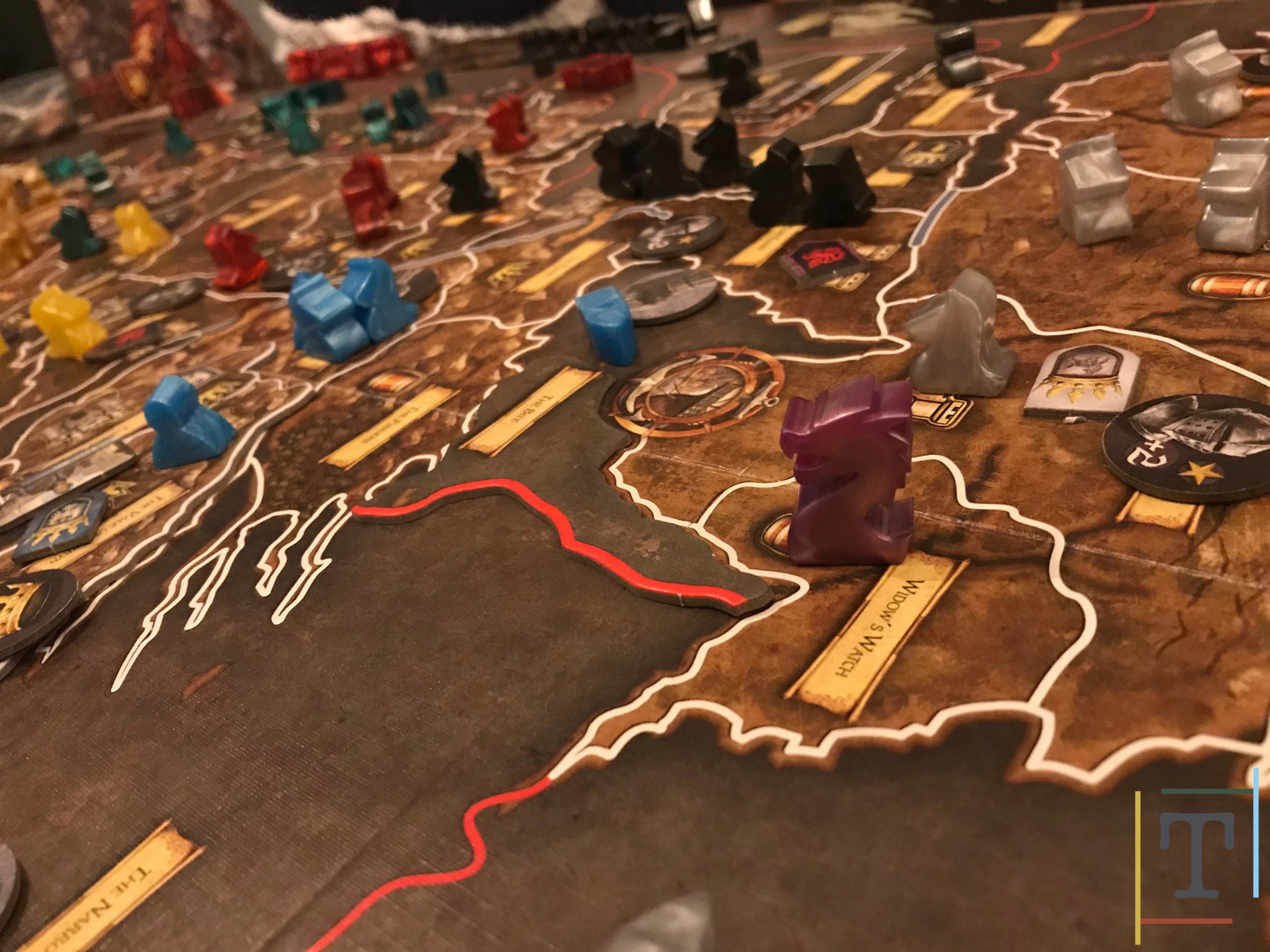 A dragon attacks in the north