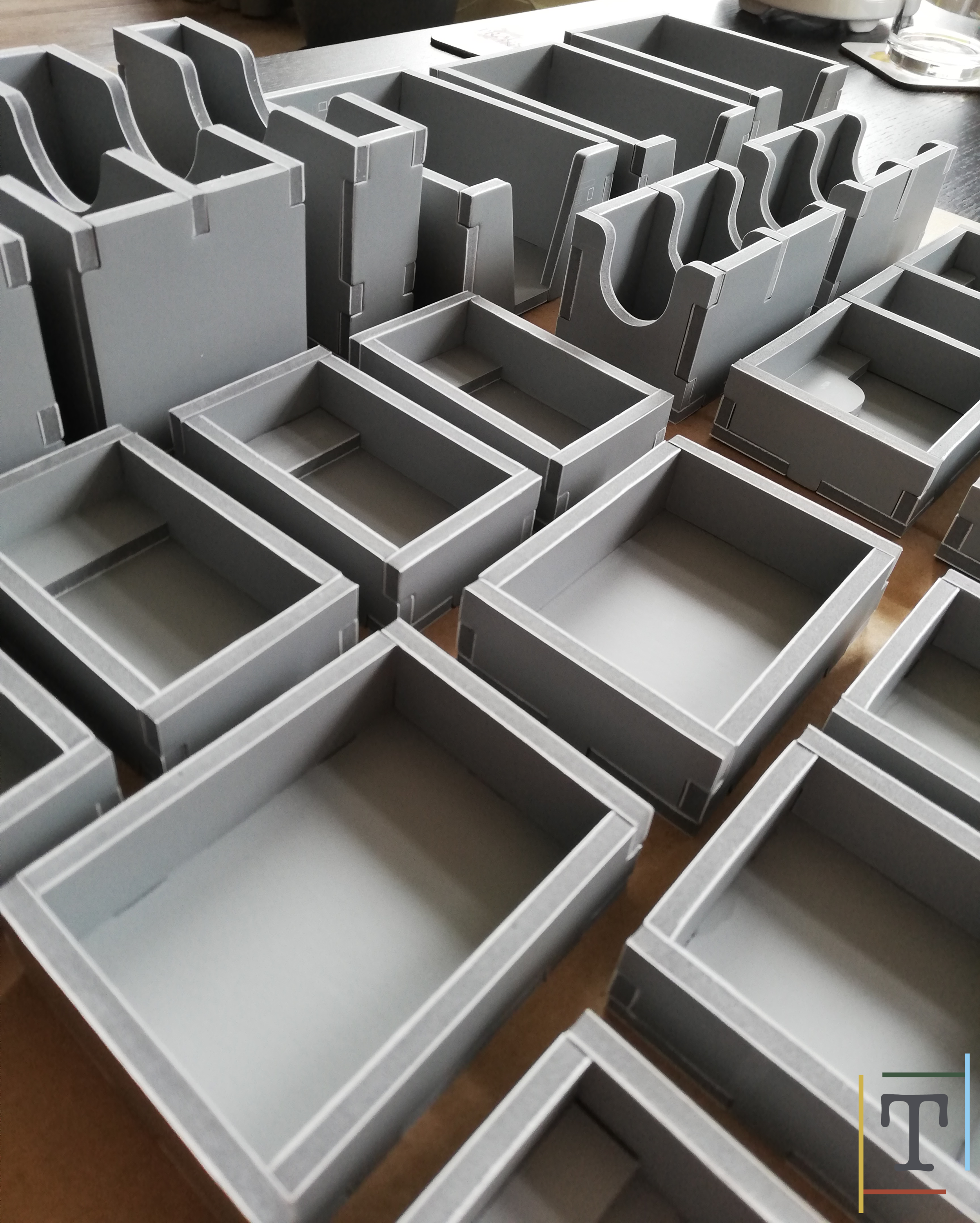 Making the inserts requires you to make lots of these trays. This is part of the Terraforming Mars insert