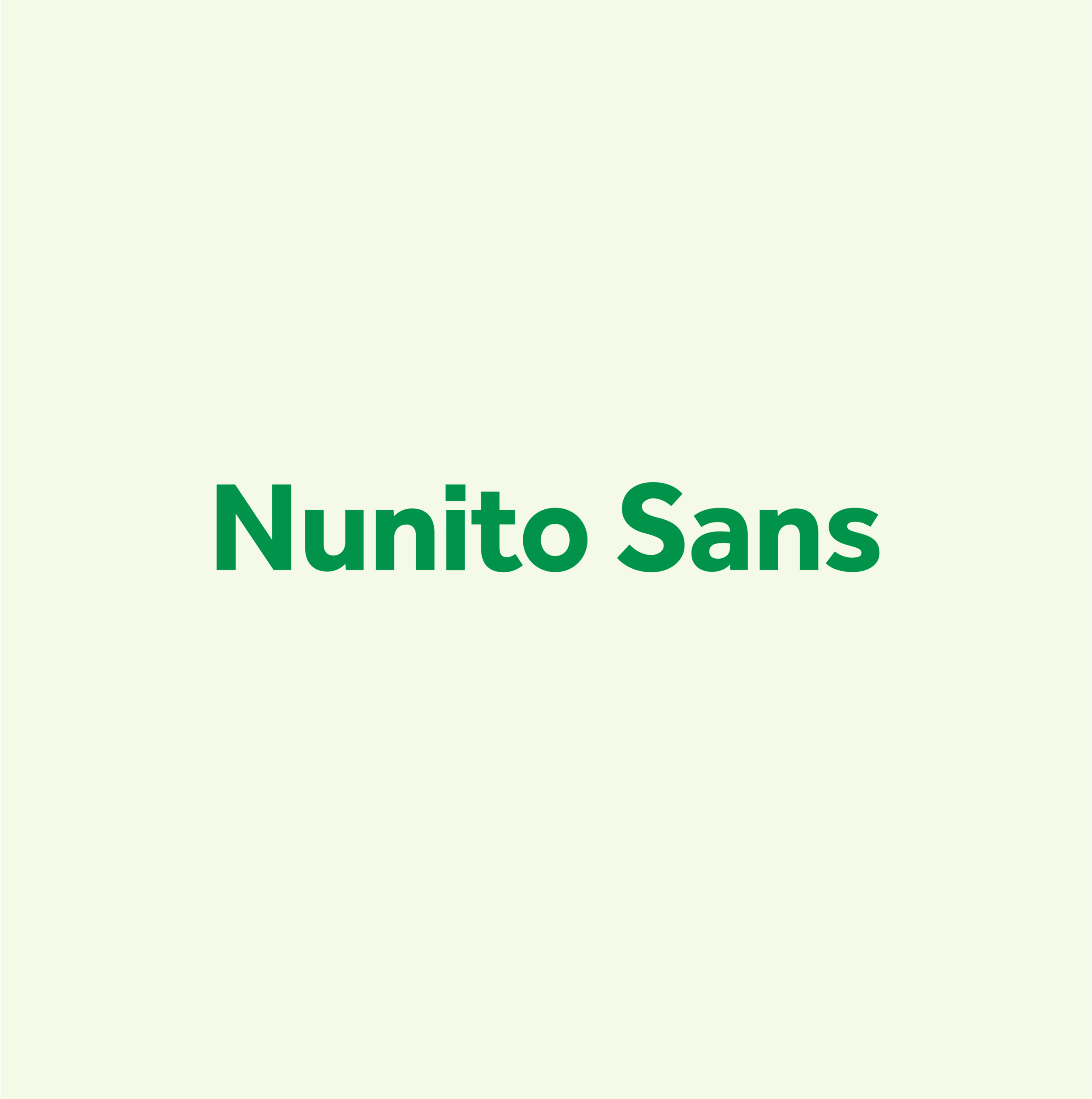 Nunito Sans - This is our substitute typeface from Google Fonts, which should only be used in contexts when Effra cannot be used (i.e. Google Docs, Microsoft Office).