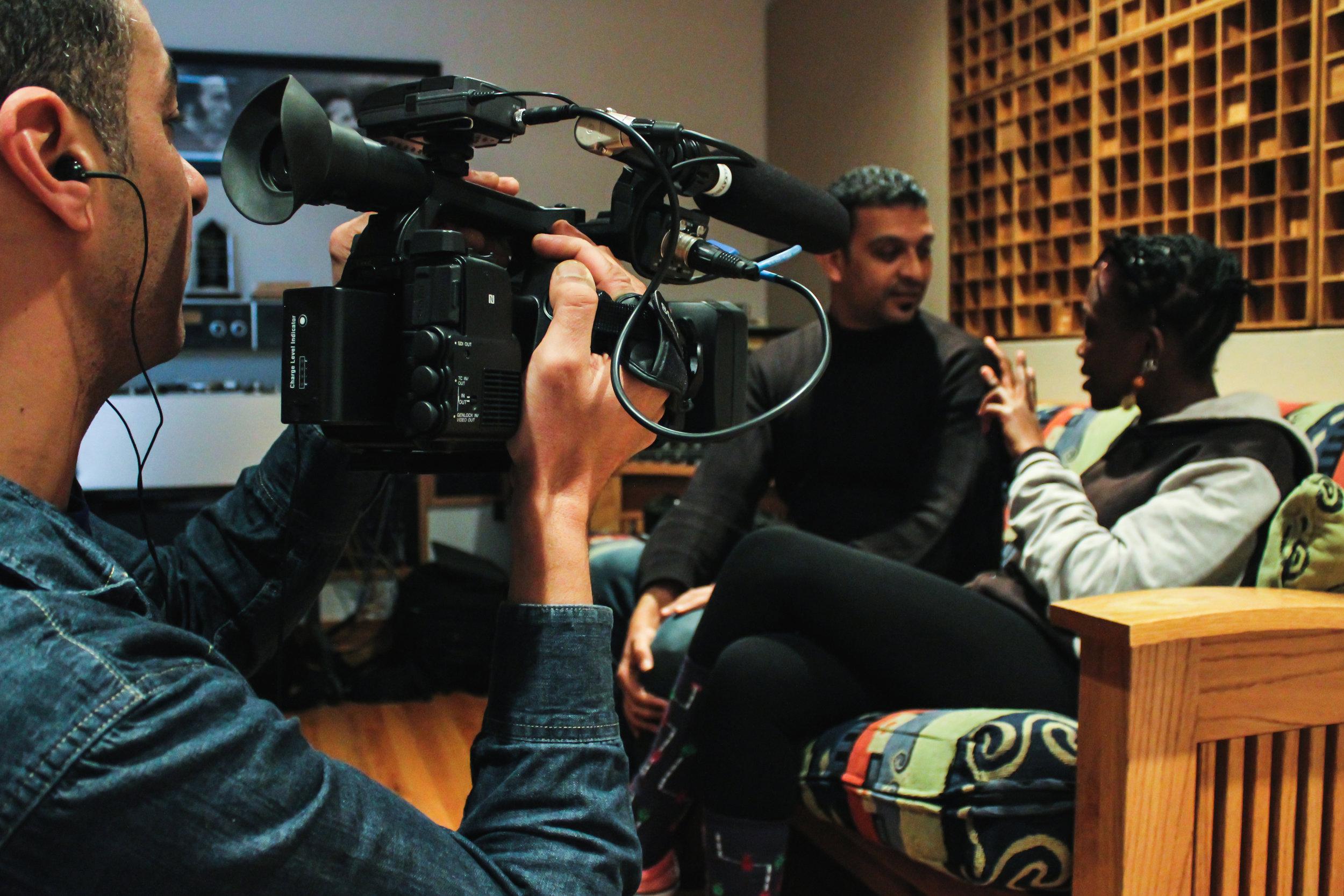 Sherief Elkatsha films Nader ElShaer and Kasiva Mutua