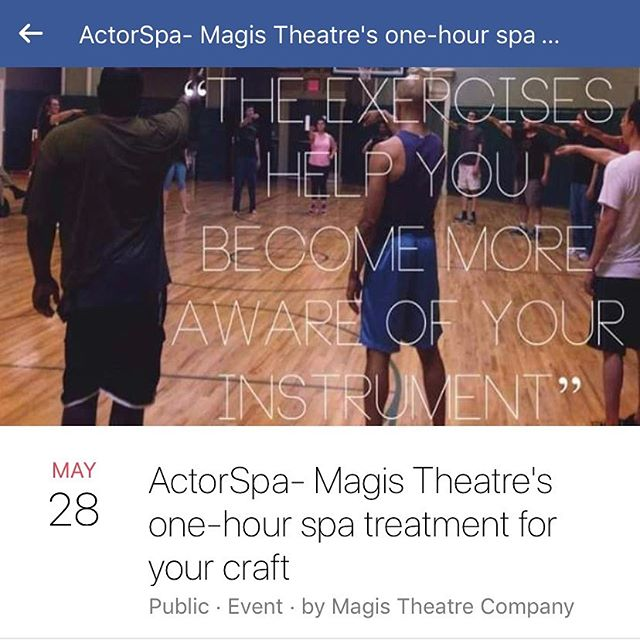 After watching Dance, you can do some movement yourself—Join @magistheatrecompany for the signature one hour Actor's Spa Workout next Tuesday 7-8pm at our training space on 13th street! Go to the Magis Theatre Facebook page to sign up! #acting #nyc #offbroadway #training #actorslife #actorcare #nyclife