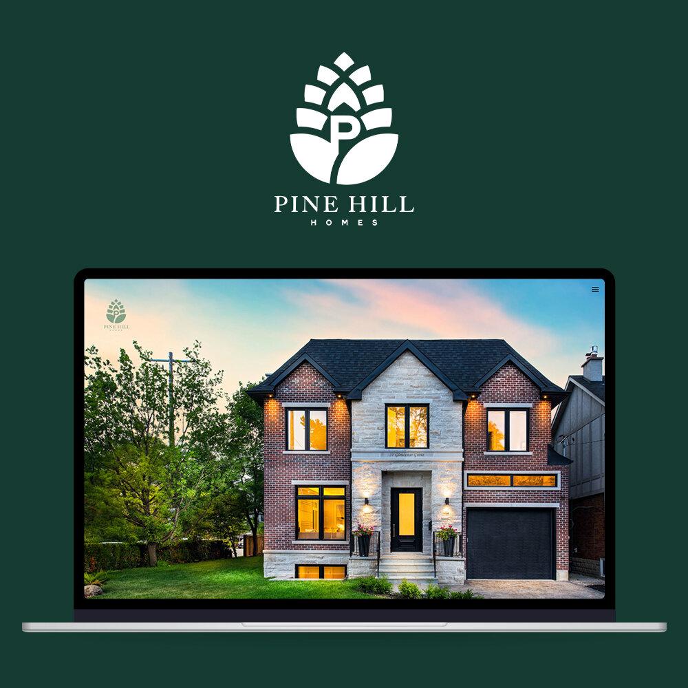 Pine Hill Homes - BRAND DEVELOPMENTSocial Media Management Website