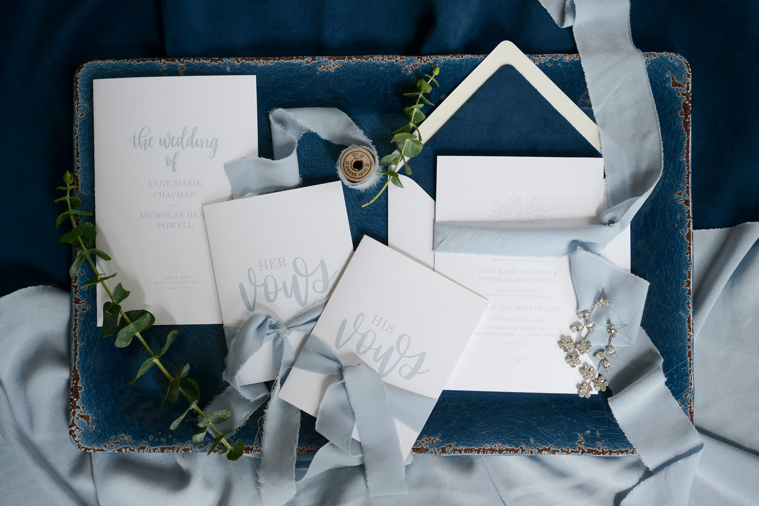 DUSTY BLUE STYLIZED PHOTO SHOOT - by Sara Ackermann Photography