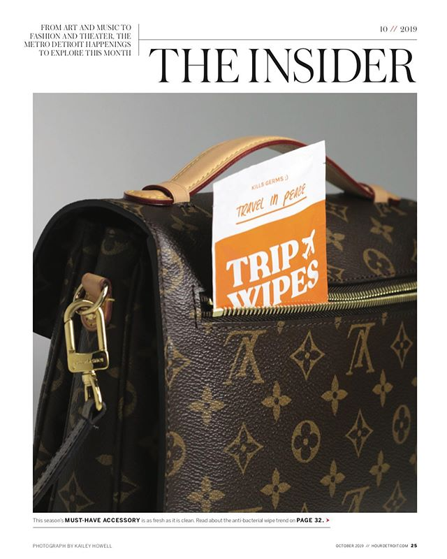 thank you @hourdetroitmagazine for this incredible write up and support • @tripwipes for the big win  #detroit #travel in peace  #lv #tripwipes #donttrip