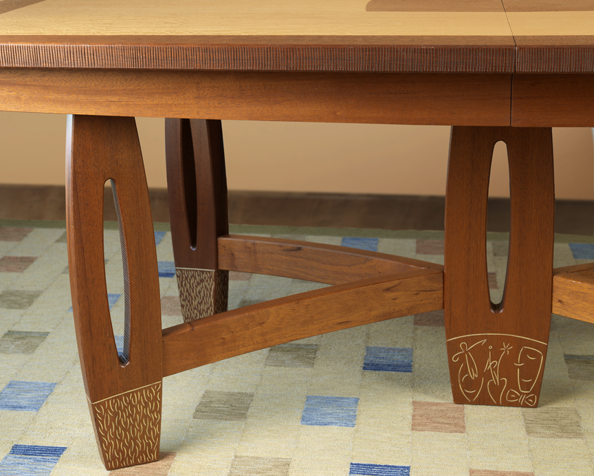 Dinning Room Table - Detail of legs and carvings
