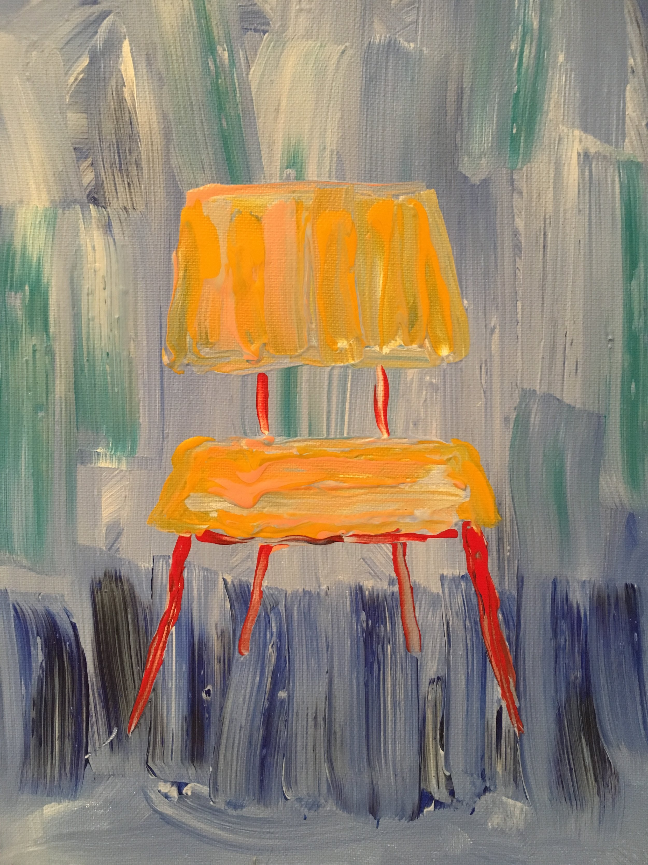"""Side chair no. 5, 11"""" x14"""", $115"""