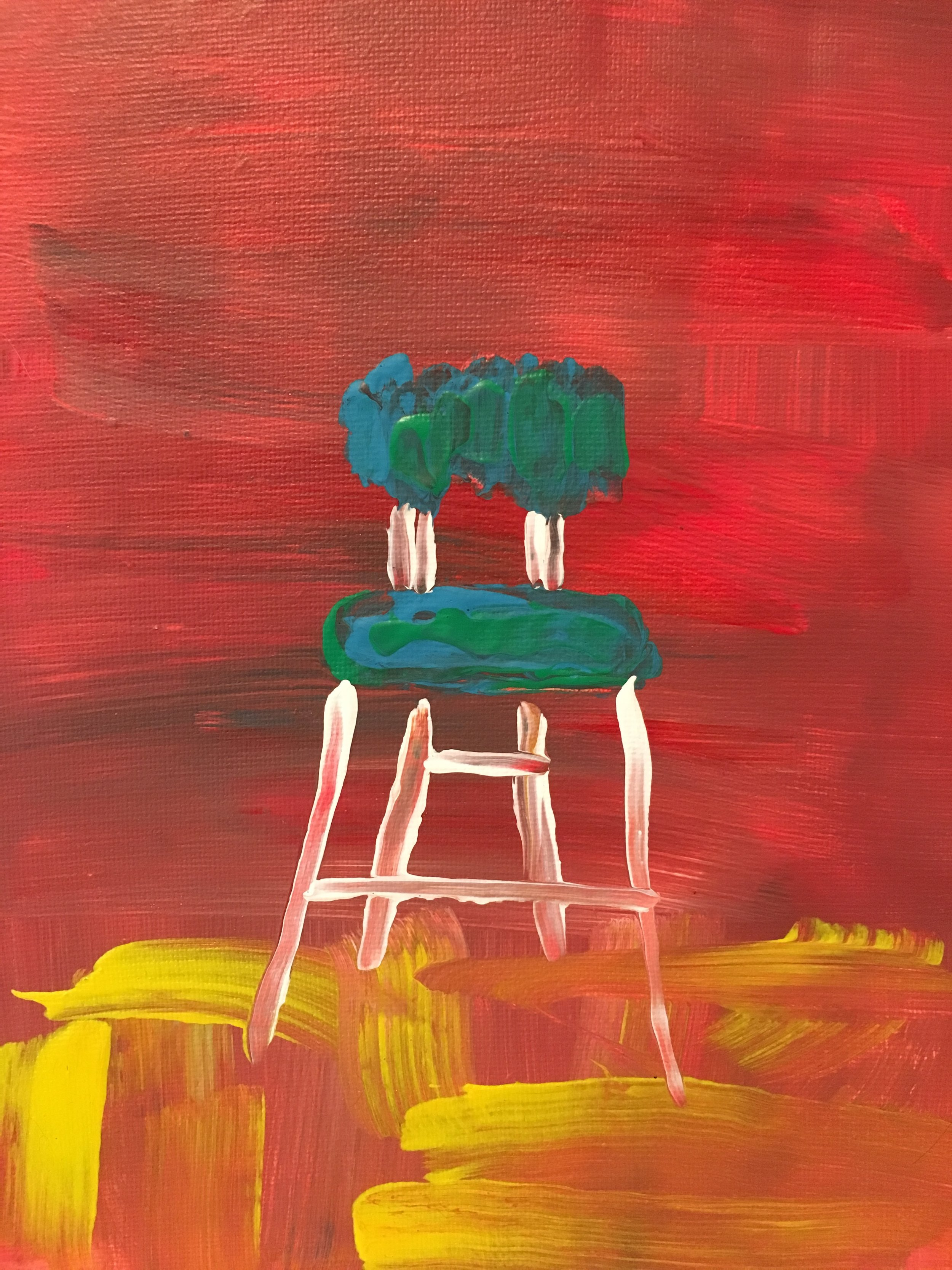 """Chair no. 4, 8"""" x 10"""", $75"""