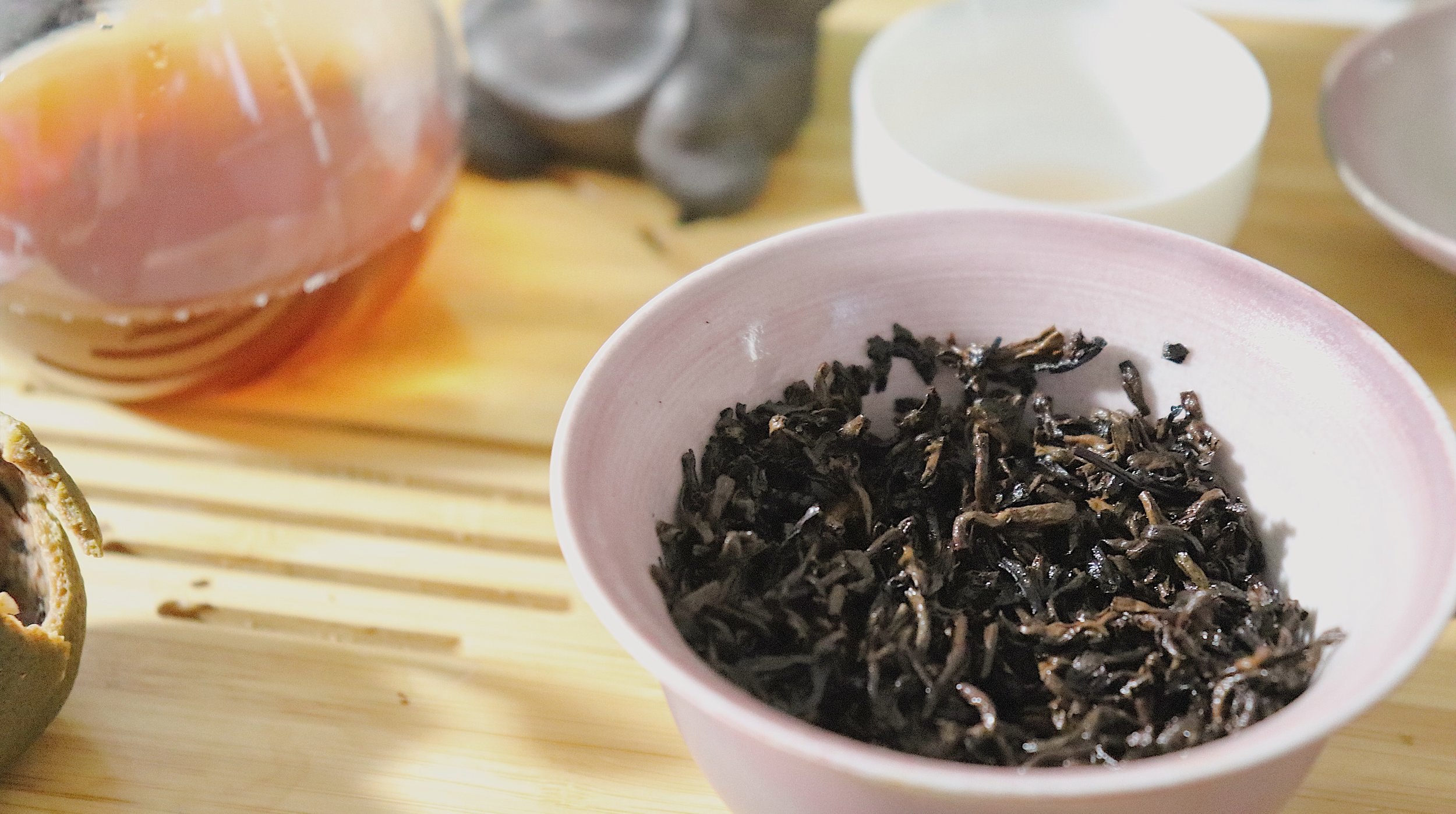 The pu'erh leaves once removed from the orange (around steep 12/13).