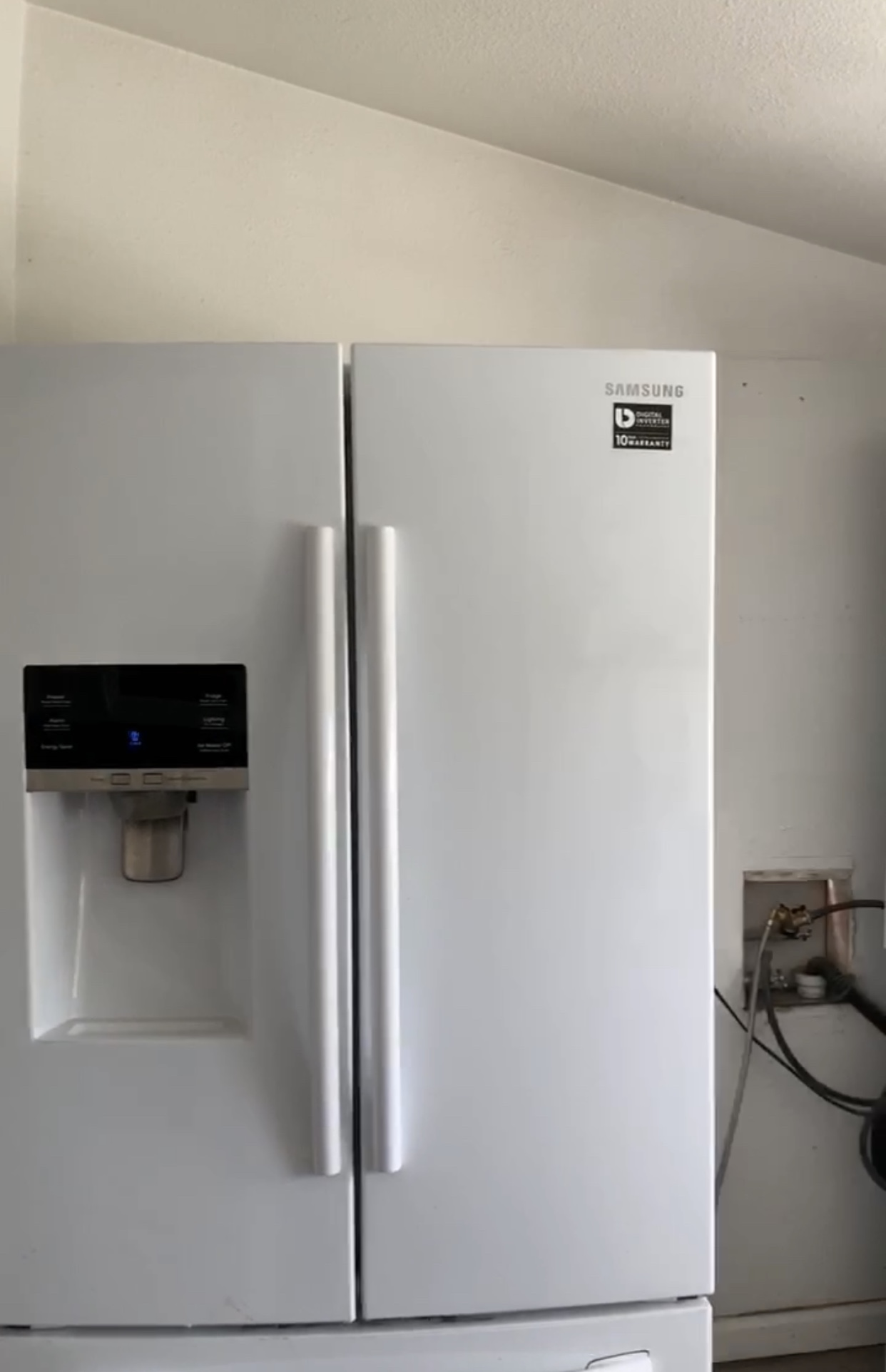 Our beautiful Samsung fridge that held the only beauty!