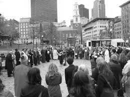 Boston Area clergy gathering on the Common