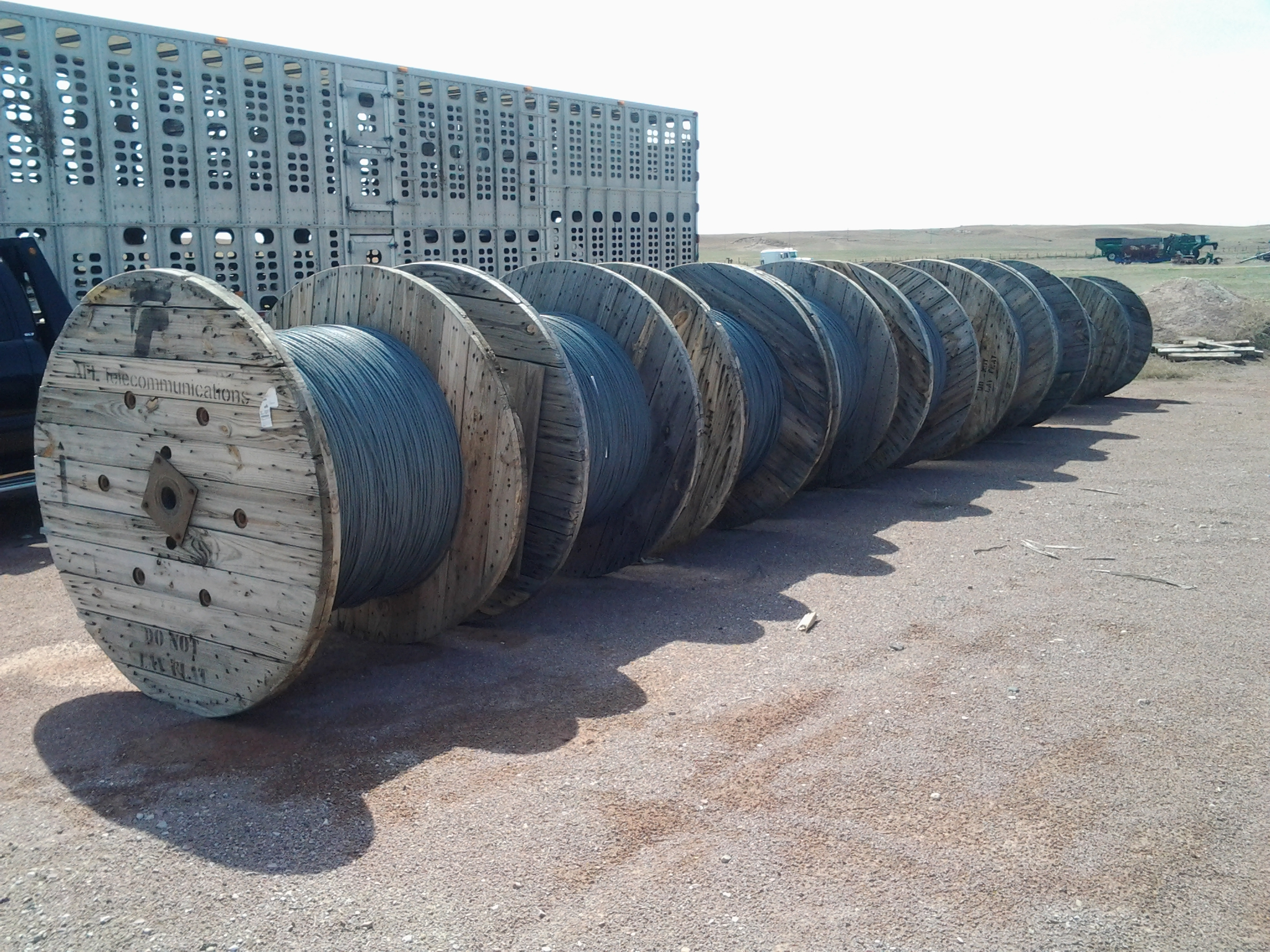 Getting your cable on wooden spools is much easier than working with open centered rolls.