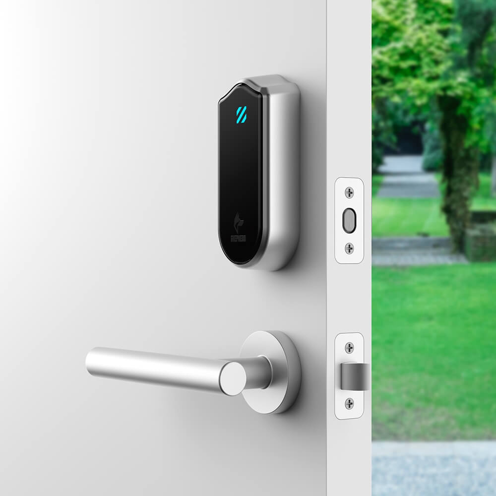 AI Enhanced Security - Shepherd Lock is the first and only smart lock that can detect and thwart lock picking attempts and truly protect your home against burglaries. Shepherd Lock transforms your existing lock hardware into a sensor. Our Artificial Intelligence technology identifies the threat, notifies you, disables the deadbolt, and helps you keep the bad guys out of your home.