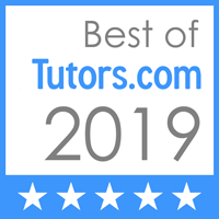 Awarded best of Tutors.com in 2019!