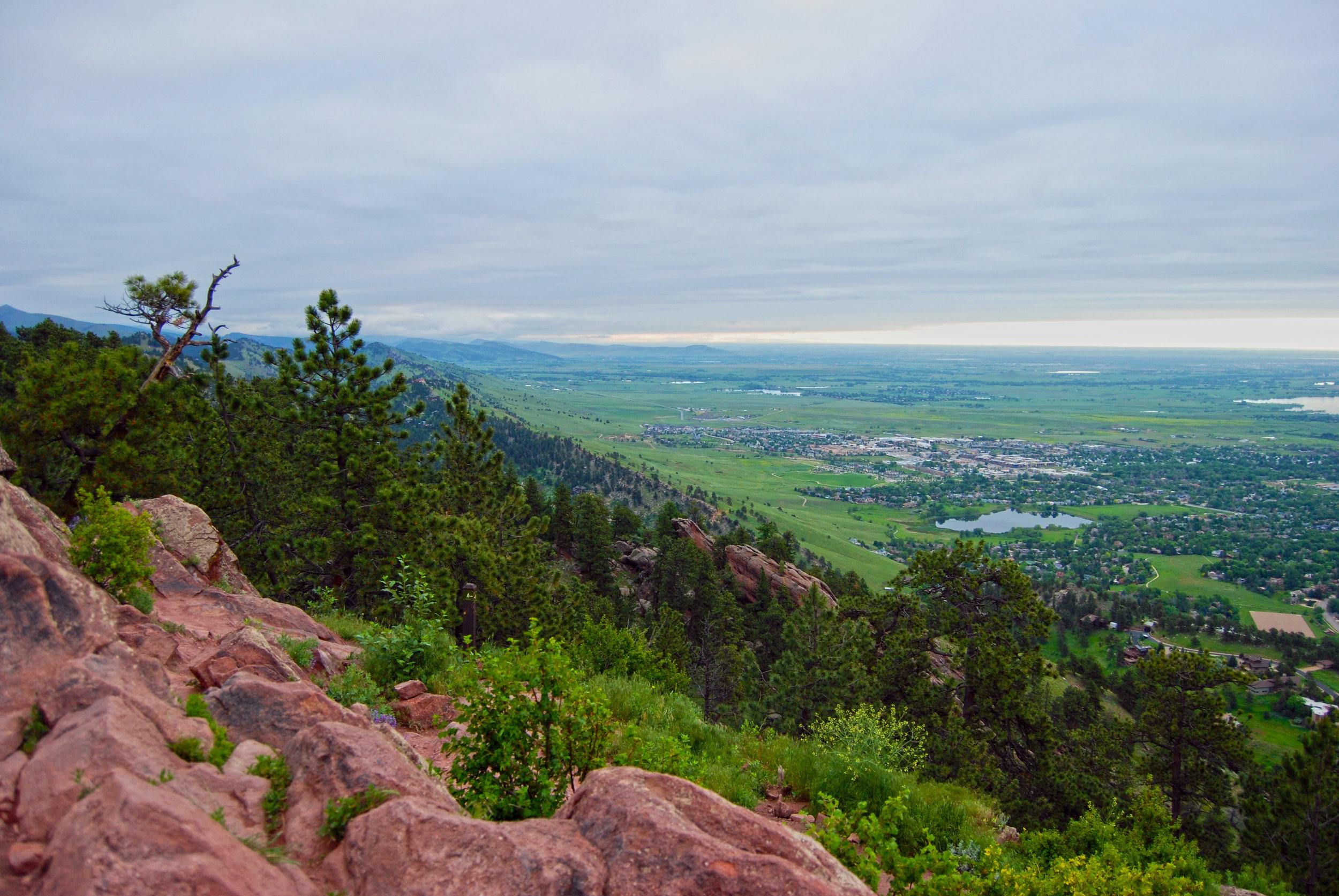 Mount Sanitas at sunrise, overlooking Boulder, Colorado. 2017 ©  Murray Meetze