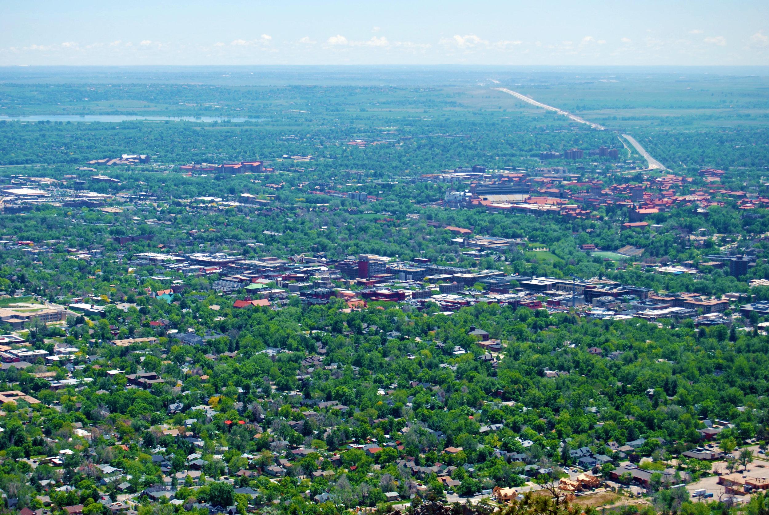 View of Boulder, Colorado. 2018 ©  Murray Meetze