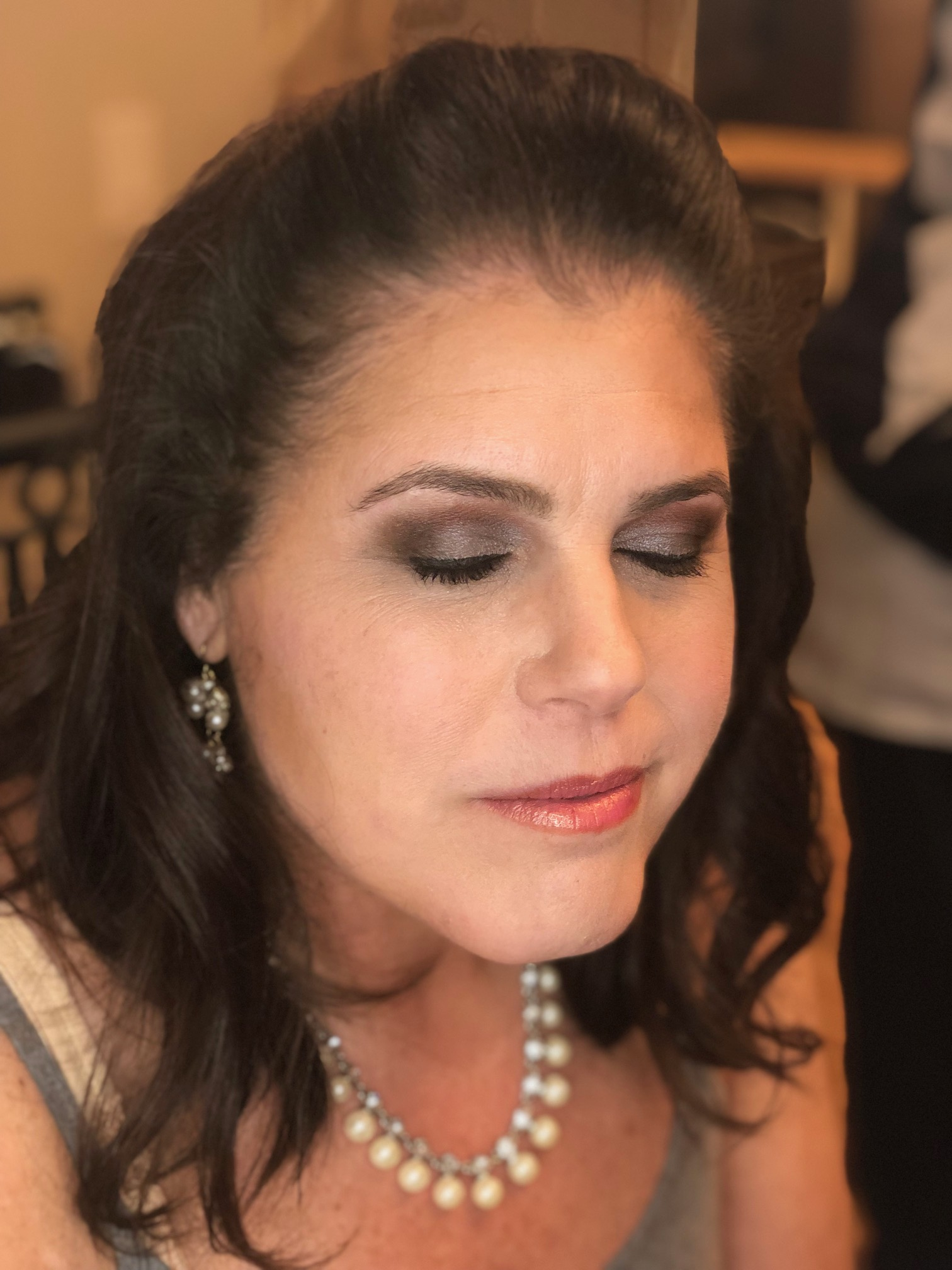Mature smoky eye makeup