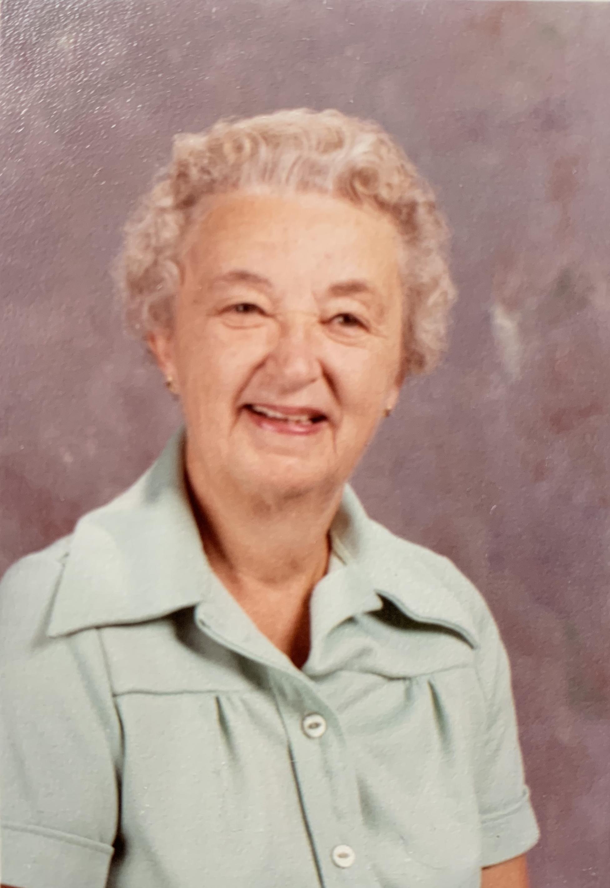Grandma Fairy's school photo (she was a lunch lady!!)