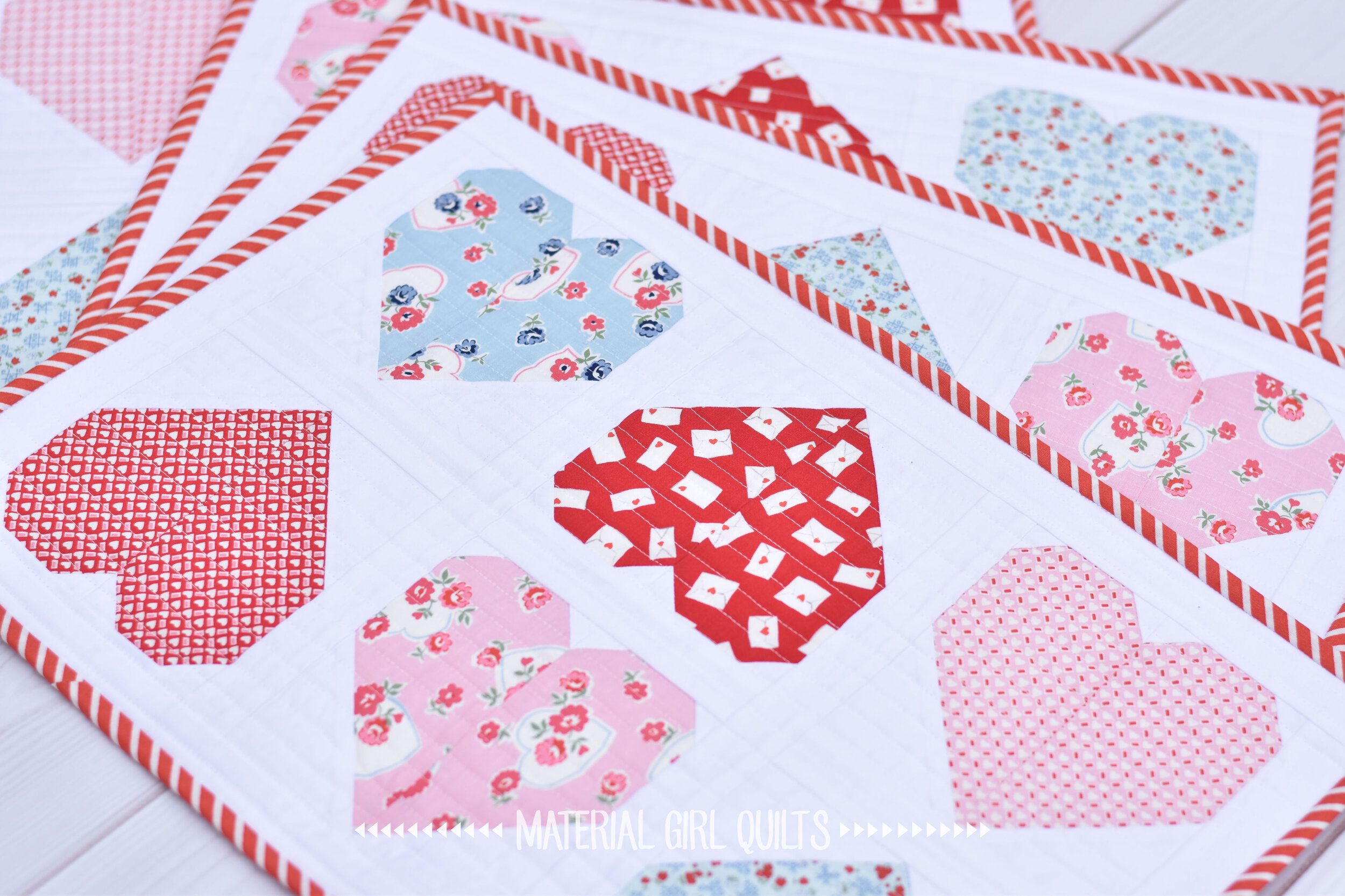 Sweetheart Valentine Placemats A Free Pattern Material Girl Quilts