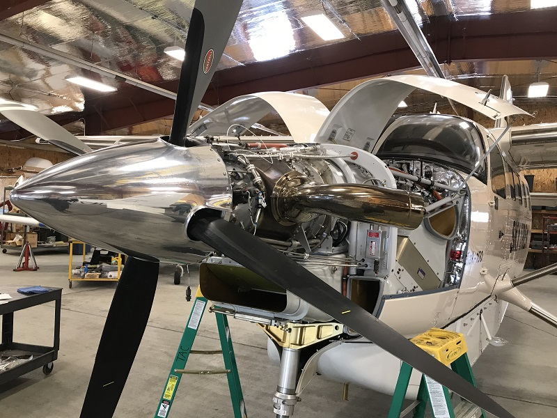 open engine aircraft maintenance
