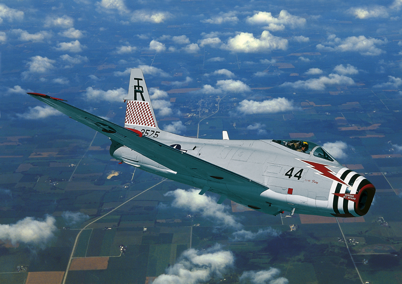 FJ-4 Fury flying blue sky