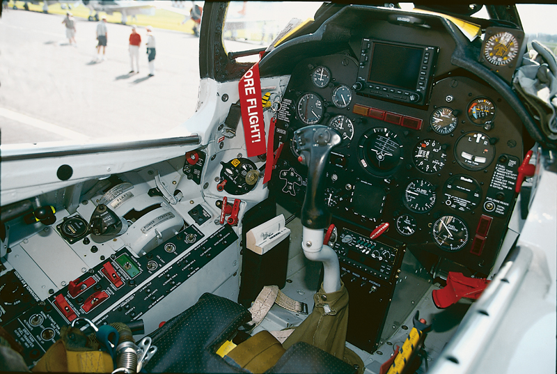 FJ-4 Fury cockpit teton aviation center fbo