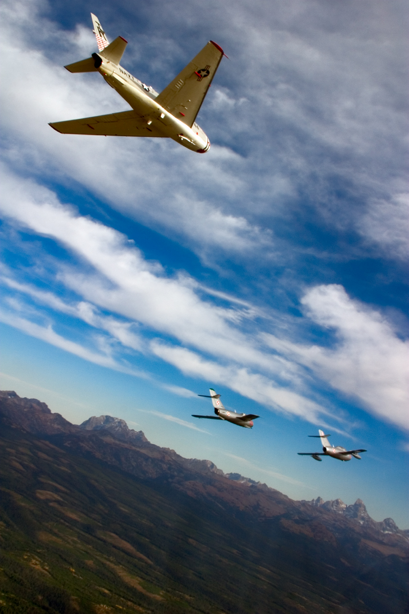 North American FJ-4 Fury over tetons