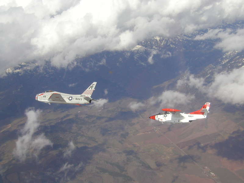 North American T-2 Buckeye with FJ-4 Fury-2