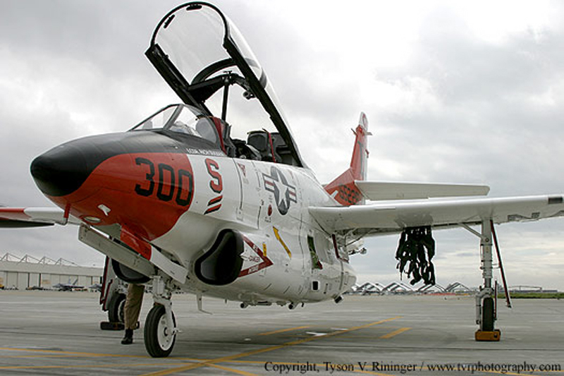 North American T-2 Buckeye cockpit open