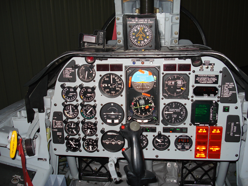 North American T-2 Buckeye cockpit