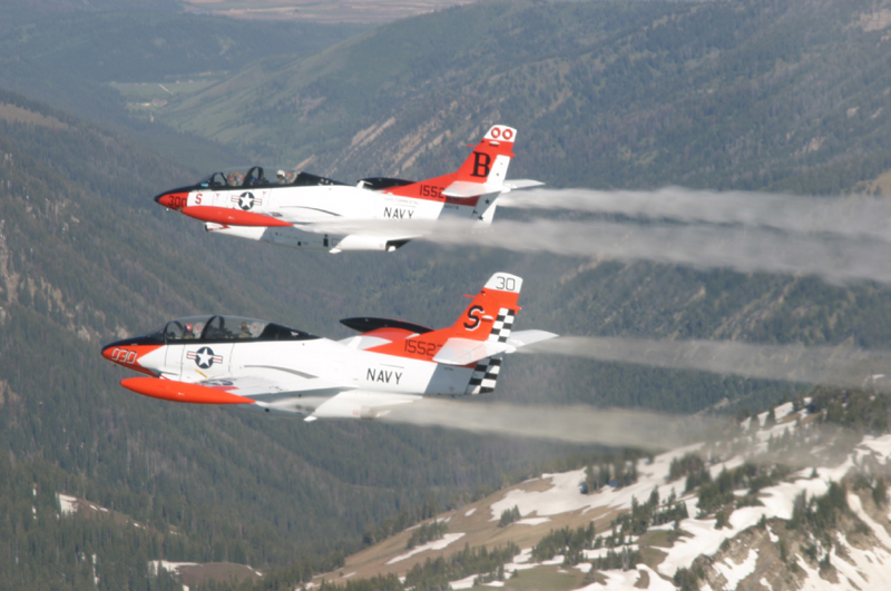 North American T-2 Buckeye's in formation