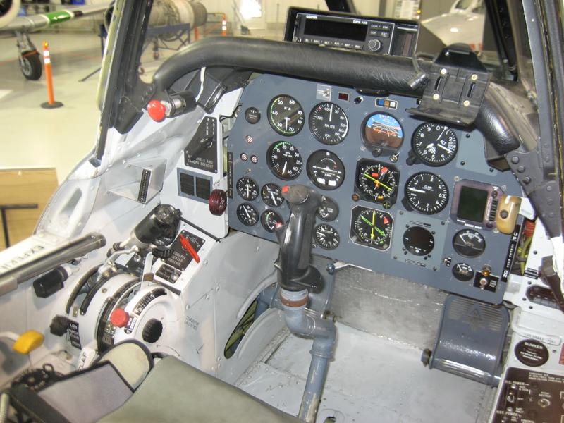 North American T-28 Trojan cockpit-3