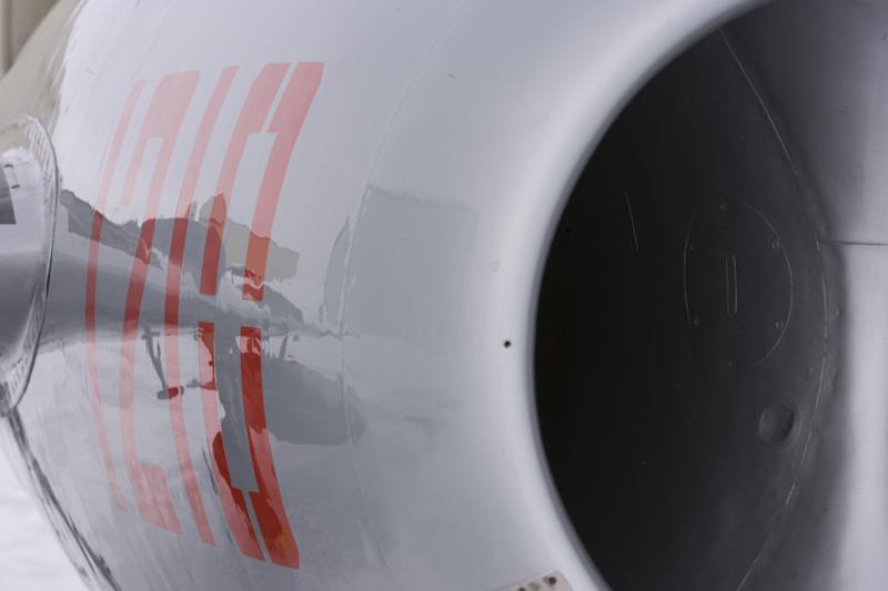 MiG-17 intake closeup