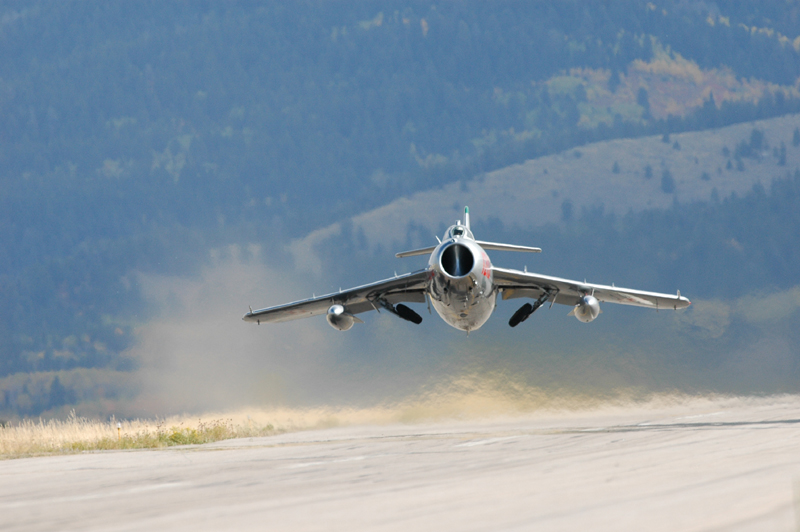 Mikoyan-Gurevich MiG-17 taking off