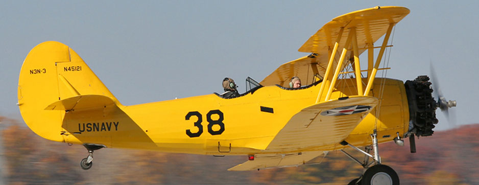 Naval Aircraft Factory N3N  yellow biplane