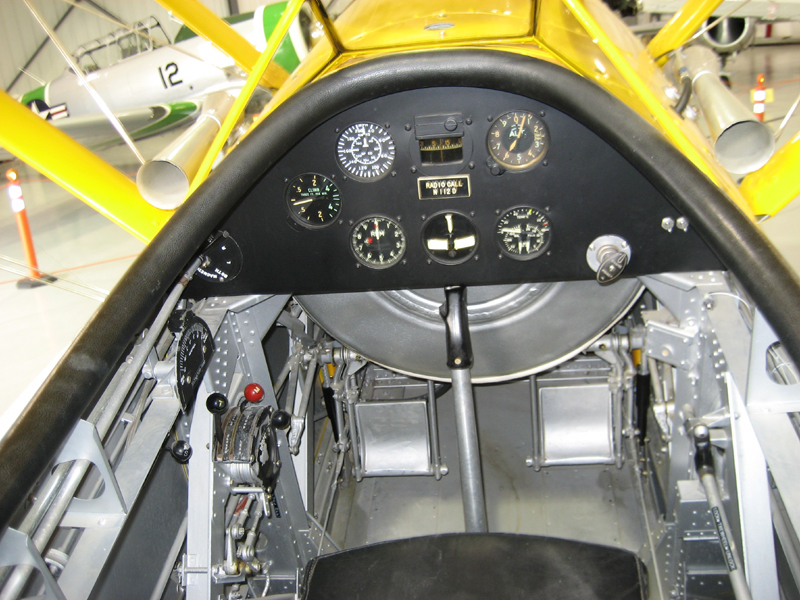 Naval Aircraft Factory N3N cockpit