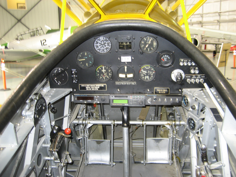 Naval Aircraft Factory N3N cockpit view