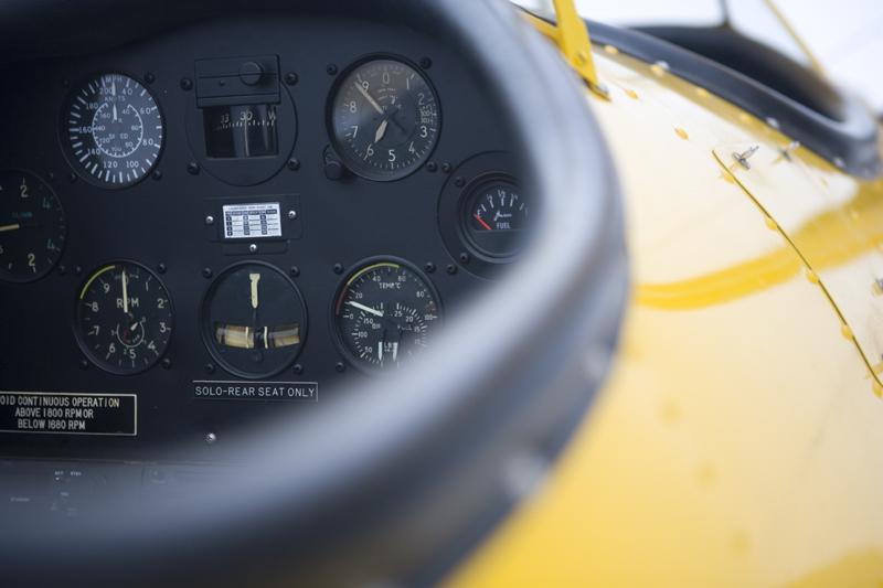 Naval Aircraft Factory N3N cockpit avionics