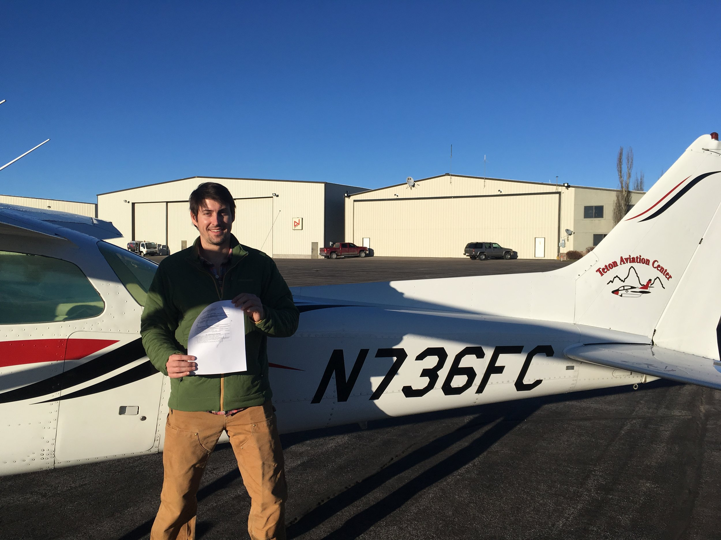 Private Pilot - Congrats! Matt Angle passed his Private Pilot Checkride in November 2018 and is now a Private Pilot.