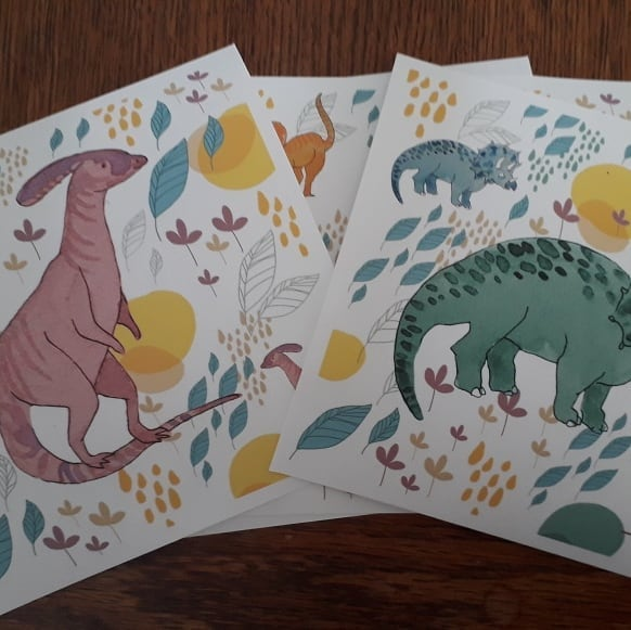 Dino decals printed and ready for my son's room! A little midweek surprise for him, what do you think? #artistmom #walldecals #dinosaursofinstagram