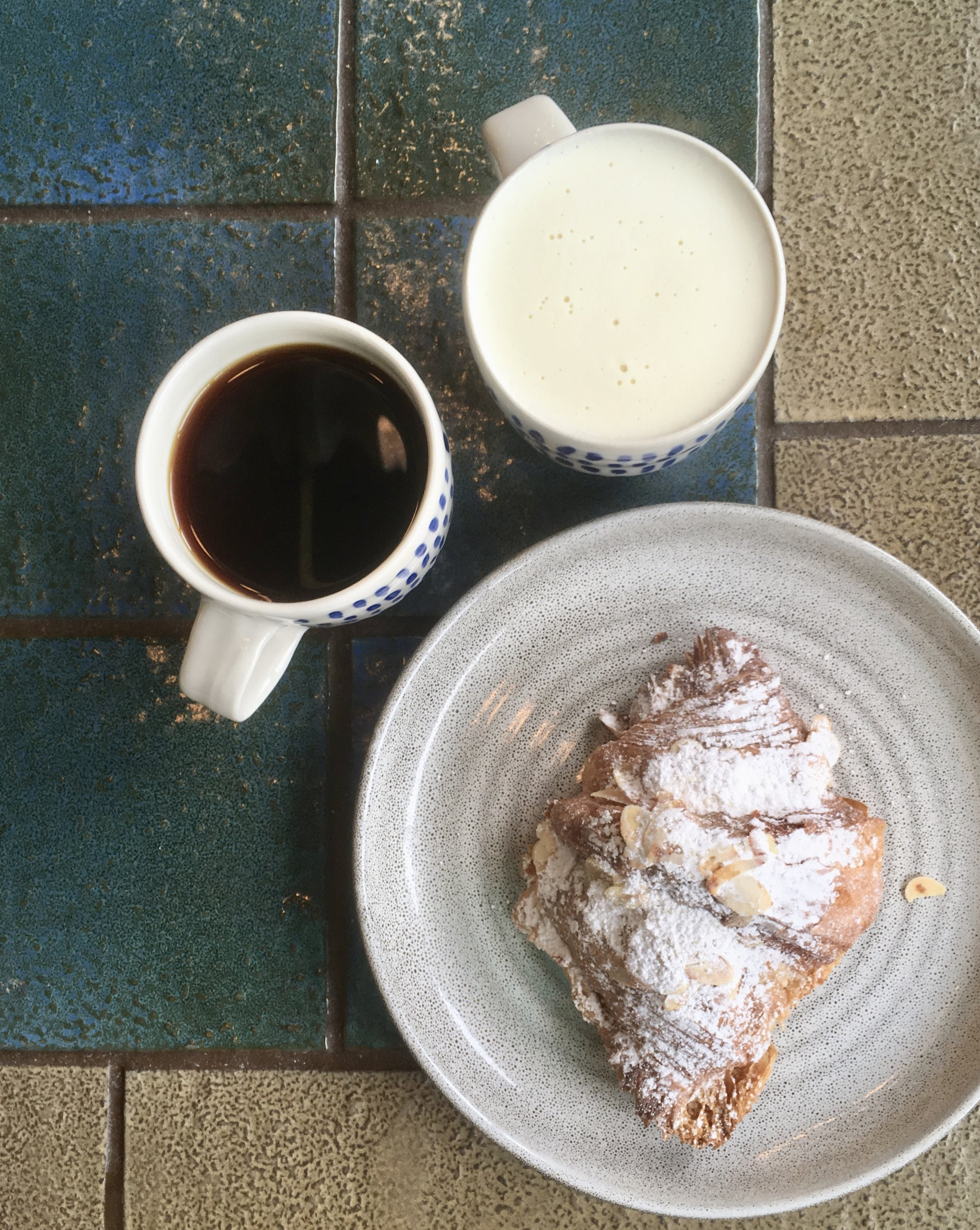 coffee and croissant at Bureau Pittsburgh