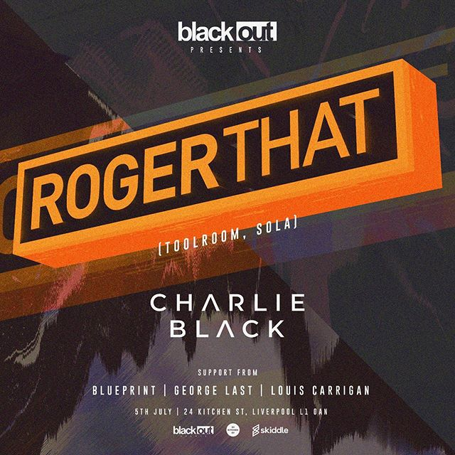 EVENT ANNOUNCEMENT!! We are proud to announce we have @rogerthatuk joining us on July 5th!🔥 With support from our residents @charlieblackdj @louiscarrigan1 @blueprintmusicuk @george_last_dj  We look forward to seeing you all there. Tickets will be made available online shortly😄