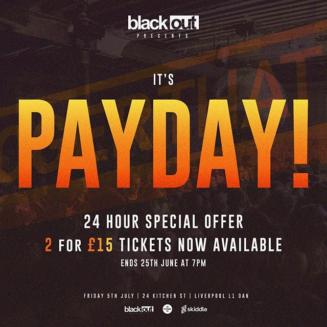 IT'S PAYDAY‼️We've added 2 for £15 tickets🔥 so go grab them now in the link in our bio *LIMITED AMOUNT ONLY*