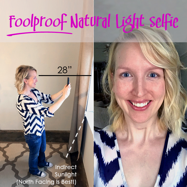 First Things First! - TAKE A GOOD SELFIENo, I do not mean a super glamorous selfie with puckered lips & filters galore.You need a raw, no makeup, no filters selfie.STAND ABOUT 2 FEET AWAY FROM A WINDOW WITH NATURAL LIGHT (NORTH FACING WINDOW IS BEST!)