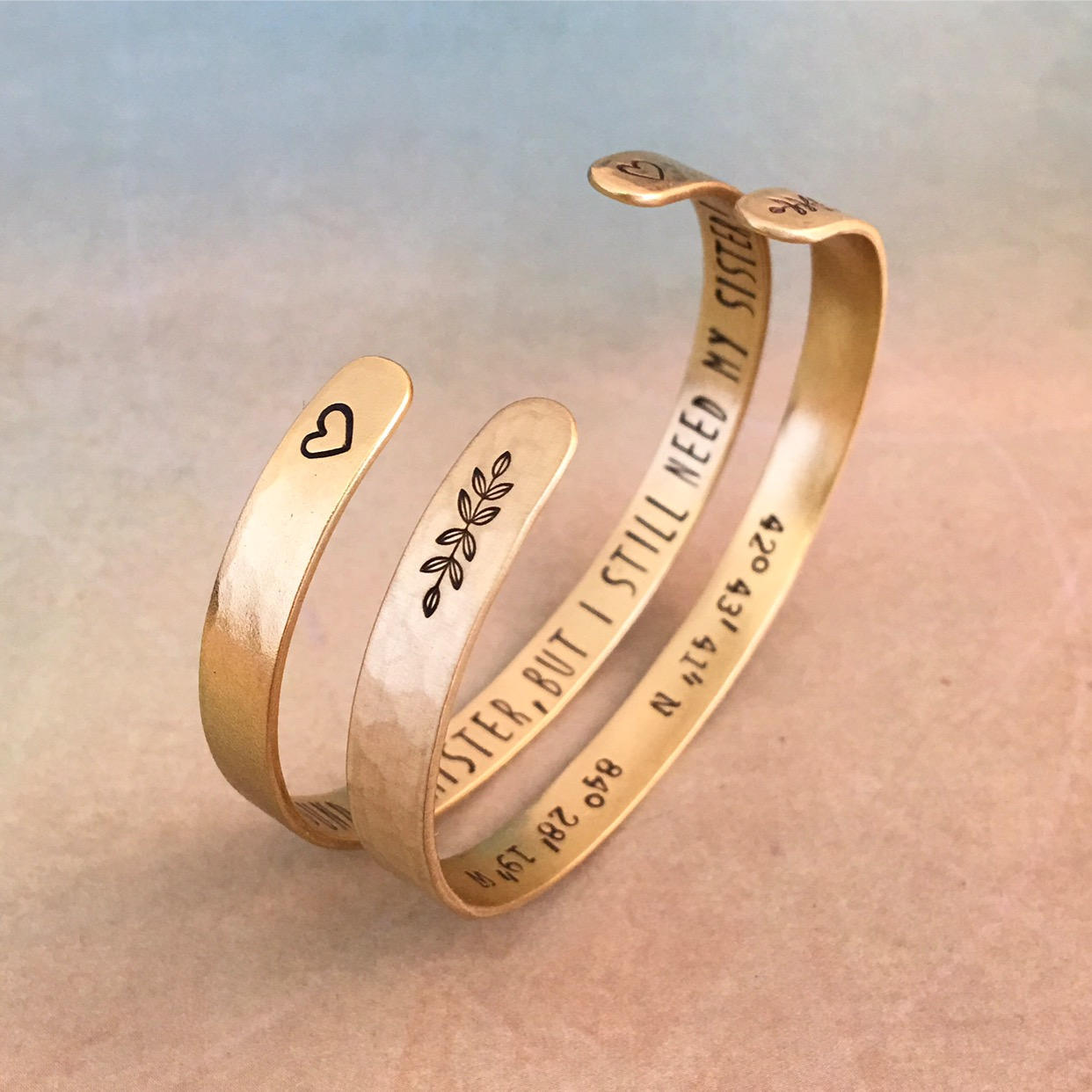 Personalized God Bangle  by Red Fern Studio